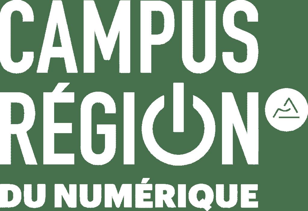 logo campus région du numérique blanc
